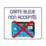 Carte bleu pas acceptée