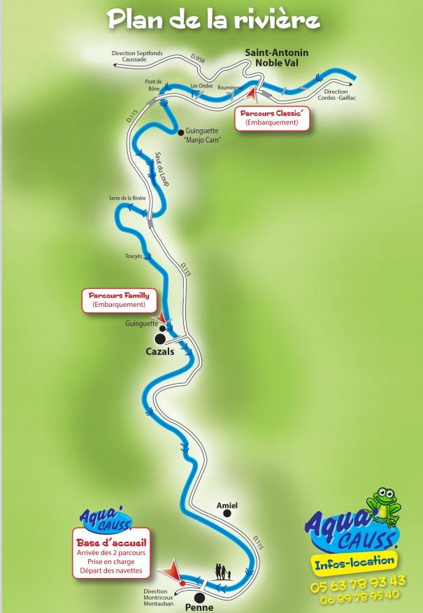 plan-parcours-riviere-aveyron-location-canoe-aquacauss-penne-sur-tarn-saint-antonin-noble-val